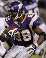 Minnesota Vikings receiver with the ball
