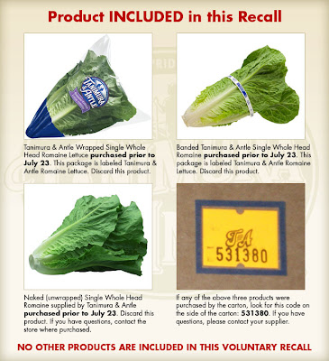 Romaine lettuce Recalled Due to E. coli