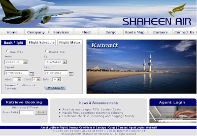How to make online reservation on Shaheen Airline?