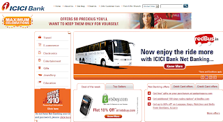 ICICI Bank Net Banking: Festival Travel Offers 2010