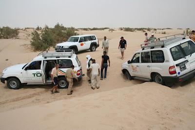Atasco en las dunas