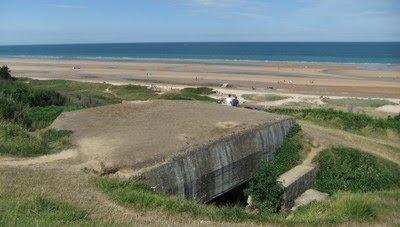 La playa desde las posiciones alemanas