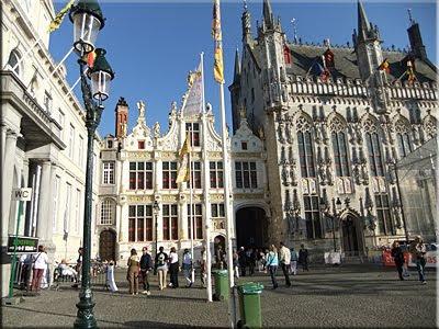 Plaza de Burg en Brujas