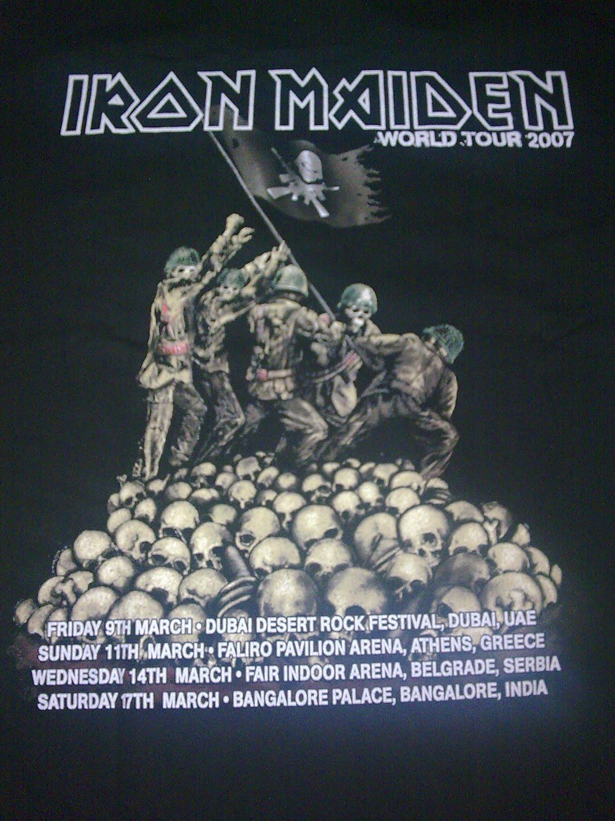 iron maiden tuor 2007: