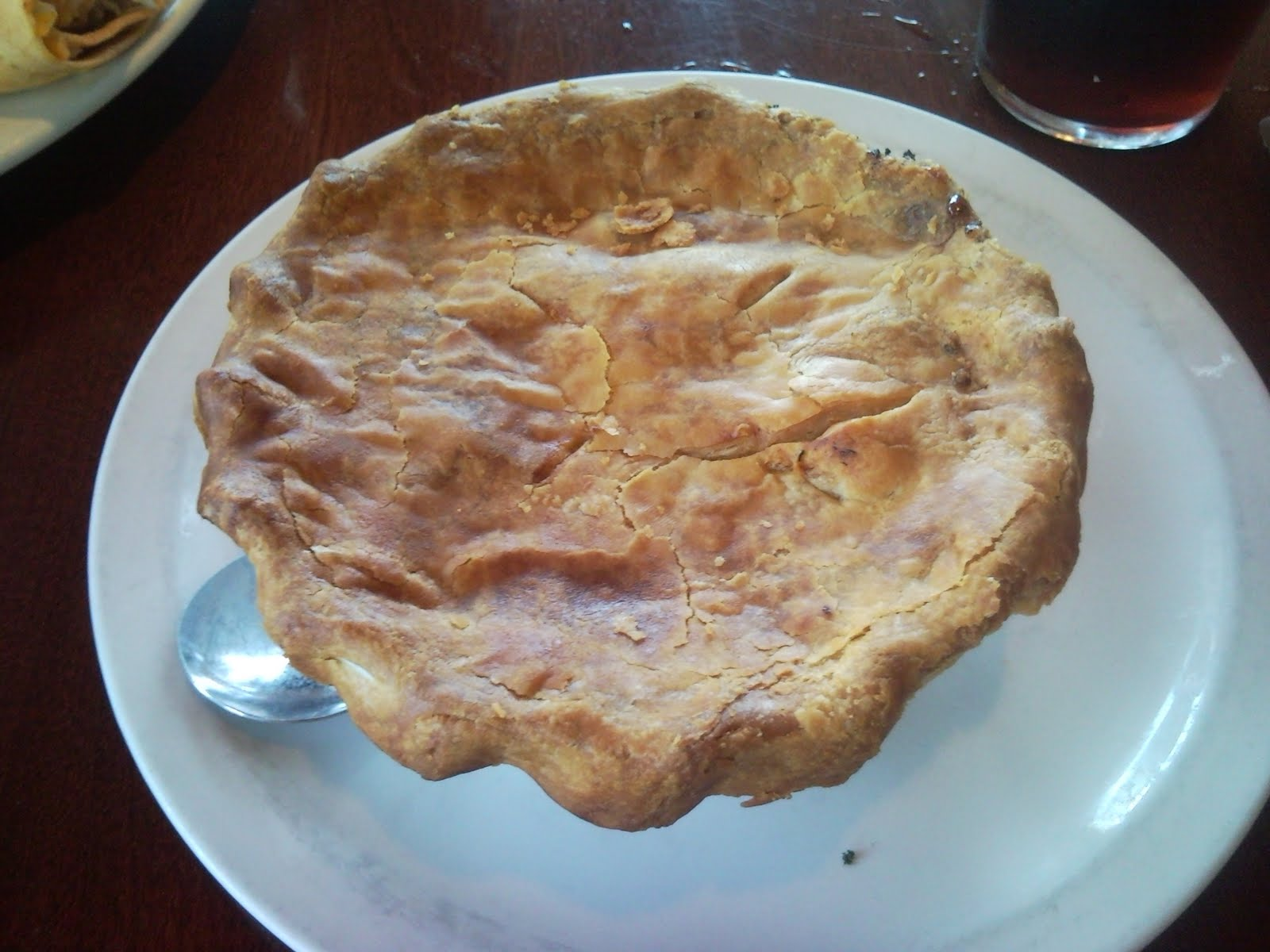 i just ate this: Chicken Pot Pie from Cheddar\'s Casual Cafe...