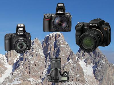 Nikon D300 vs Canon 40D vs Sony A700 vs Pentax K20D