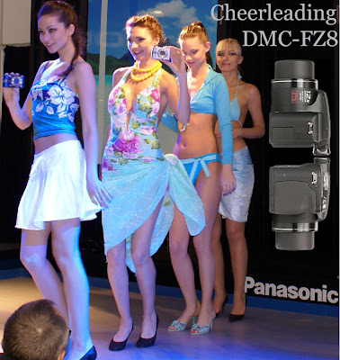 Panasonic FZ8' cheerleading