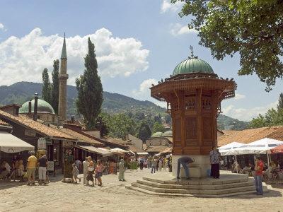 Gdje bi sada voljeli biti... u slici... Lawrence-graham-sebilj-fountain-bascarsija-market-sarajevo-bosnia-bosnia-herzegovina