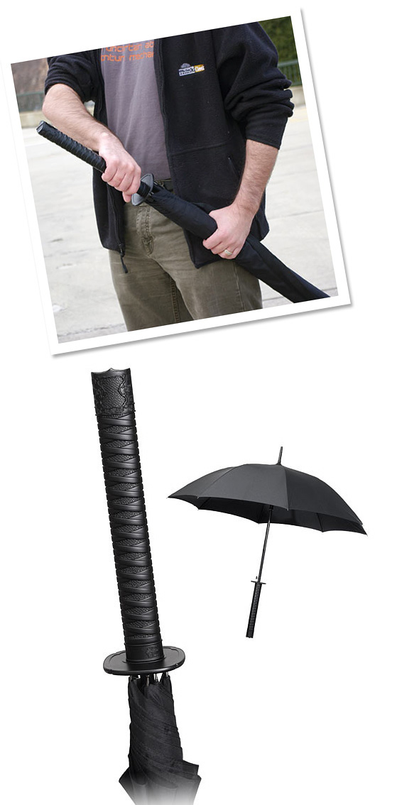 Samurai Sword Or Handle of Umbrella Illusion