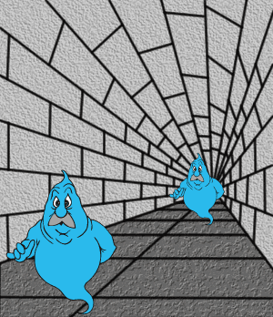 Ghost in the Tunnel Illusion - Ghost Optical Illusion