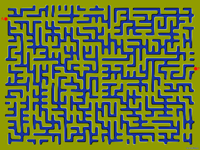 Floating Maze Optical Illusion - Maze Illusion