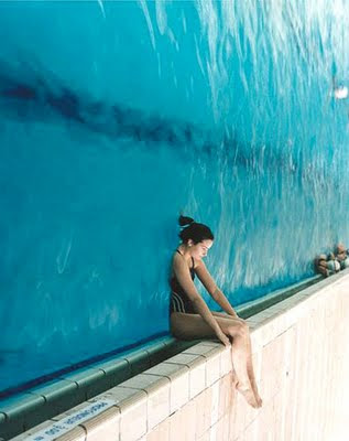 Girl and the Pool Optical Illusion   Visual Phenomena and Optical
