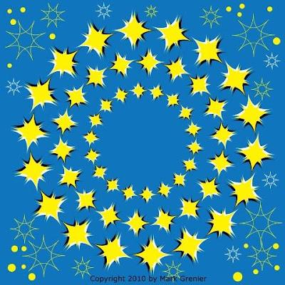 Dancing Star Illusion - Moving Star Optical Illusion