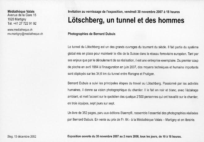 Exposition Bernard Dubuis - Médiathèque Valais - 2007-2008