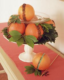 Citrus Pomander Centerpiece
