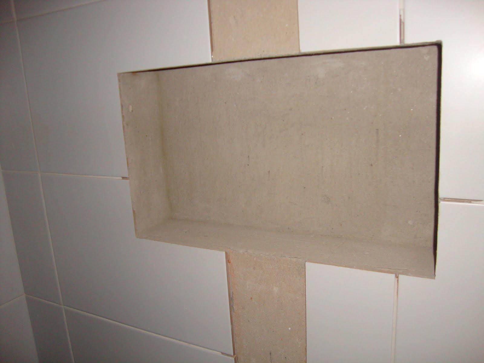 como fazer o nicho do banheiro fazer a parede de #776554 1600x1200 Banheiro Com Nicho Como Fazer