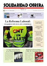 Solidaridad Obrera especial contra la reforma laboral