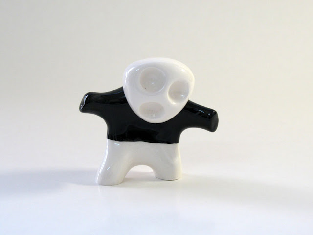 Ceramic B-Boy character, standing position figure
