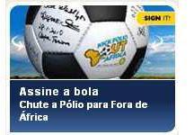 Chute a bola da Pólio para fora da África.