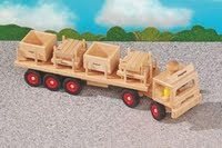 wooden articulated truck