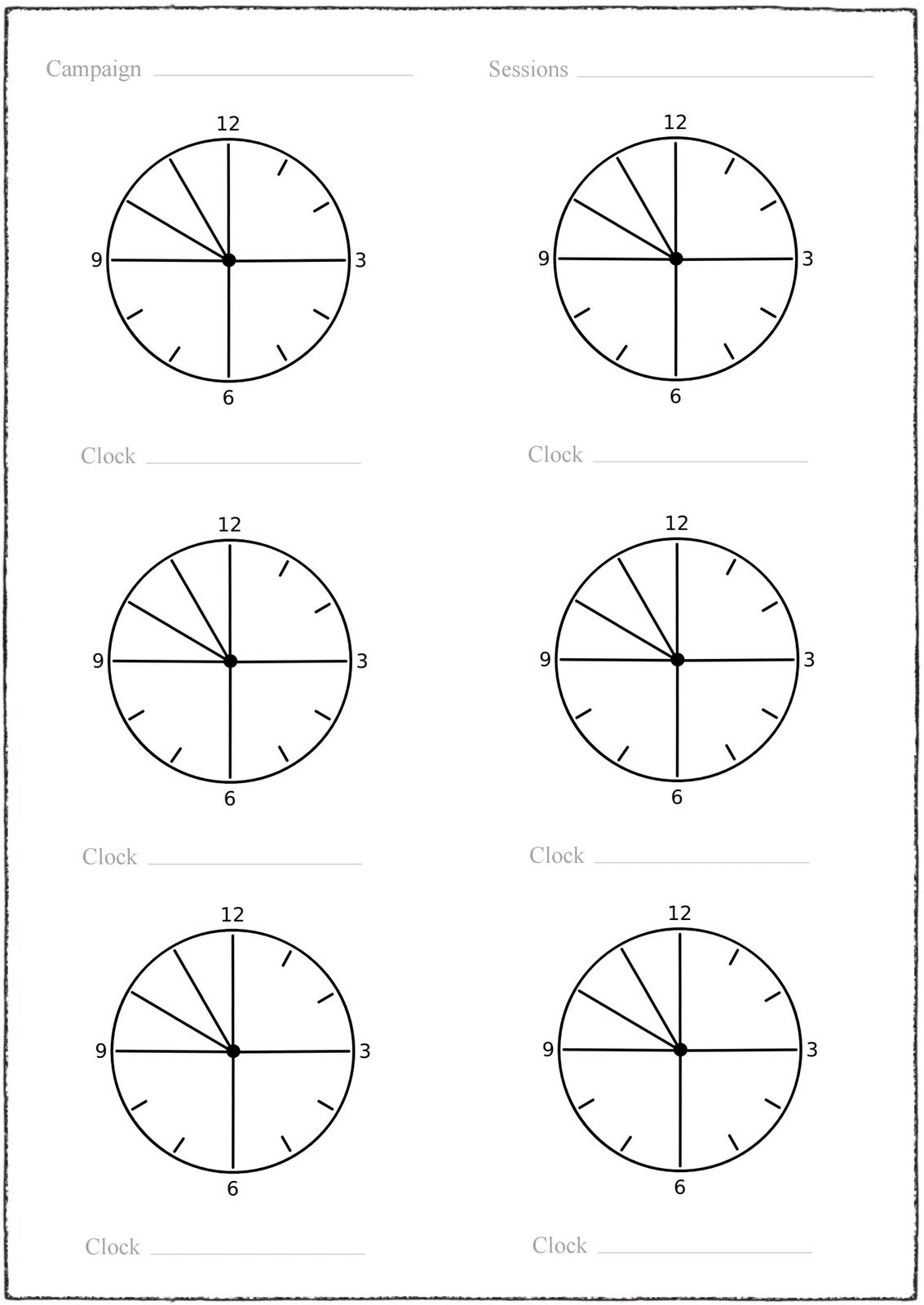 telecanter u0026 39 s receding rules  countdown clock record sheets