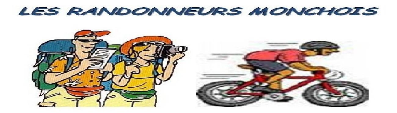 LES RANDONNEURS MONCHOIS