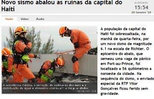 Novo sismo no Haiti