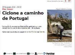 Ciclone a caminho de Portugal