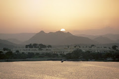 Udaipur at dusk, India 2004