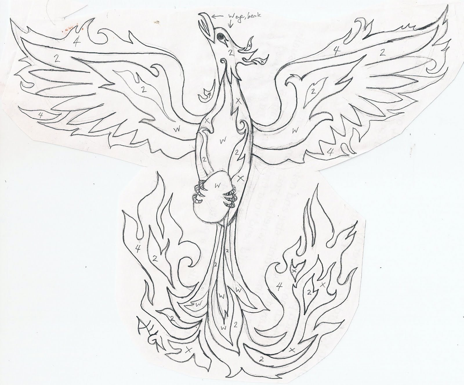 Dark Phoenix Coloring Pages furthermore Phoenix Bird Coloring Pages ...