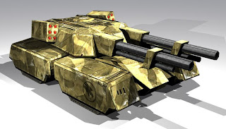 C&C Renegade Papercraft: Mammoth Mark I Tank