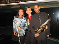 Jason Geh Live Band comprising of the saxophone and er hu player with Jason on the keyboards / piano