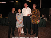 Jason Geh with Didi, Hans Peter and Niels Christian
