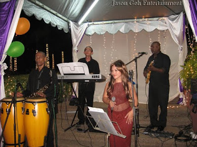 Jason Geh Live Jazz Band performing at the party