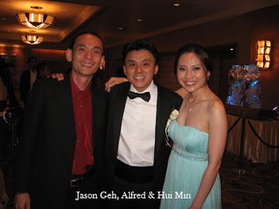 Jason Geh with newly weds Alfred and Hui Min