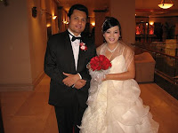 A photo of the wedding couple Rajendra and Morine