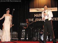 The groom YM Tunku Jamie Nadzimuddin bin Tunku Mudzaffar dedicating a song to his new bride Nur Azini Mohd Kamal