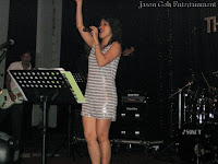 One of the professional singers during the event