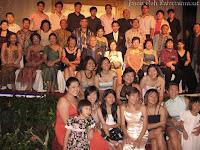 Wedding couple's family photo