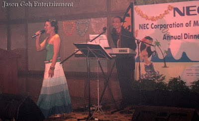Event singer performing live at NEC Annual Dinner