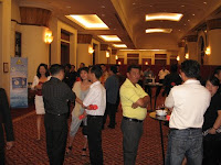 the guests at the foyer during cocktail