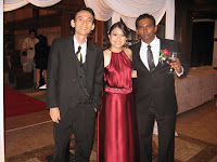 Jason Geh with newly weds Suzanne and Kevin