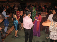 the guests dancing to the beat of the live band