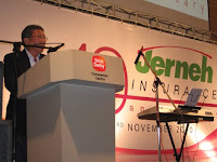 A speech by the CEO of Jerneh Insurance