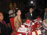 The bridal couple, Chris and Wei Wei at their main table