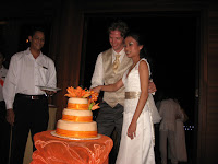 The cake cutting ceremony