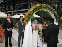 The wedding ceremony of Yen and Matt at Sheraton Langkawi