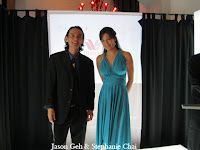 Jason Geh and MC Stephanie Chai