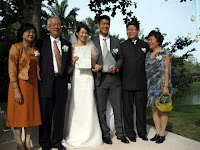 Wedding couple with their parents