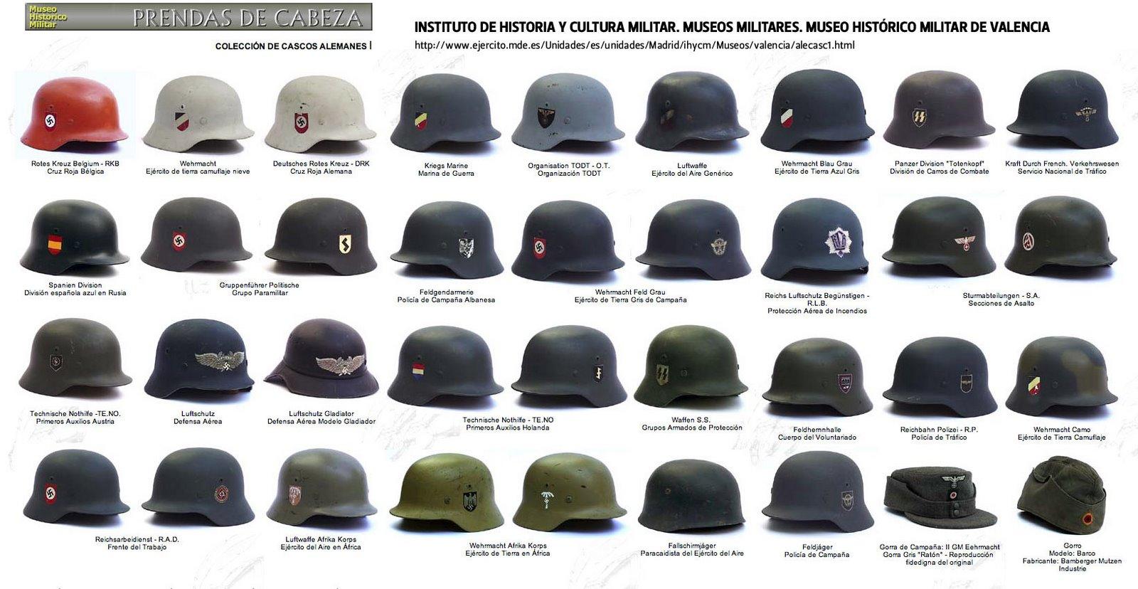 Elegir el casco correcto: Alemania WWII Cascos-alemanes-WWII